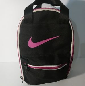 Nike lunch bag pink black and white